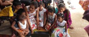 Miss Sepalika Piyadasa introducing computers to the students.