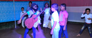 Students dancing for the song Kurumitto by the Gypsies