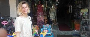Julie Desperiez at Pemaduwa Bazar, Mahawilachchiya