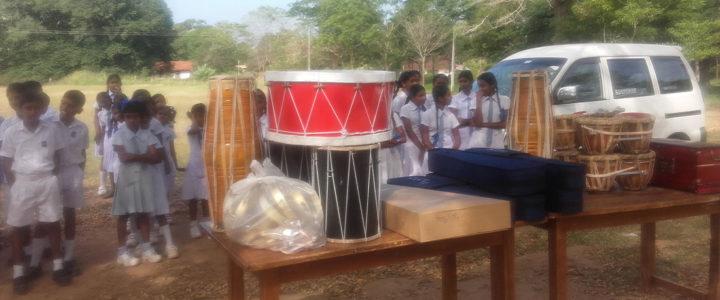 The Country Music Foundation Donates Musical Instruments to Gamini Public School, Mahawilachchiya