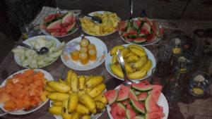 Sri Lankan fruits spread at Susannah's farewell party.