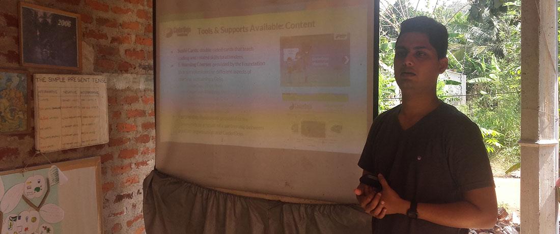 Mr. Prabhath Mannapperuma introducing the program