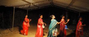 Senior students at Horizon Academy, Mahawilachchiya dancing