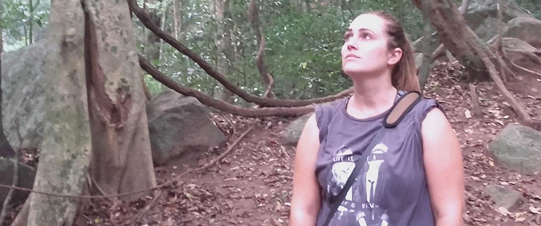 Miss Ana Sitges Carmona in Ritigala, Anuradhapura, Sri Lanka