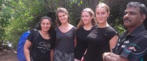 Britt Wijnen with her friends at Horizon Academy - Anuradhapura