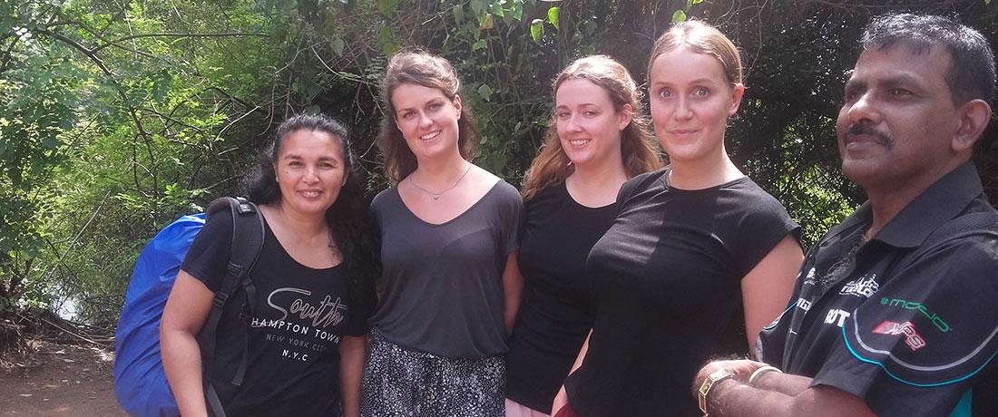 Loes Anne Van den Elzen from the Netherlands with her friends at Horizon Academy - Anuradhapura