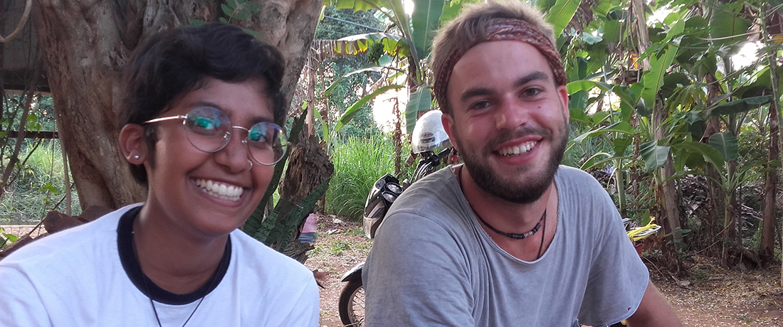 Aaron Friedrich with Dilani, another foreign volunteer