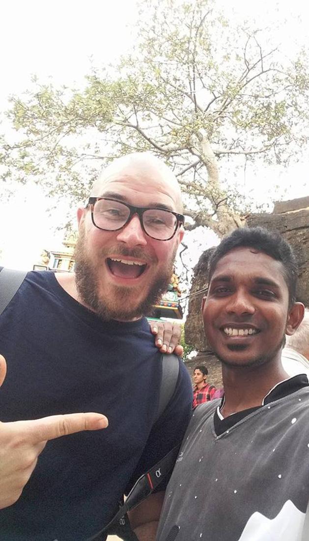 Mr. Stefan Jacobsen with Namal Thissa