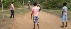 Children at Horizon Academy - Ralapanawa playing basketball