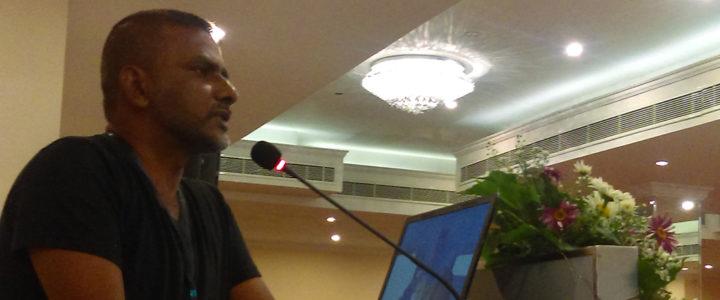 "Nanda Wanninayaka's Presentation on ""ICT and Automation for Rural Development."""