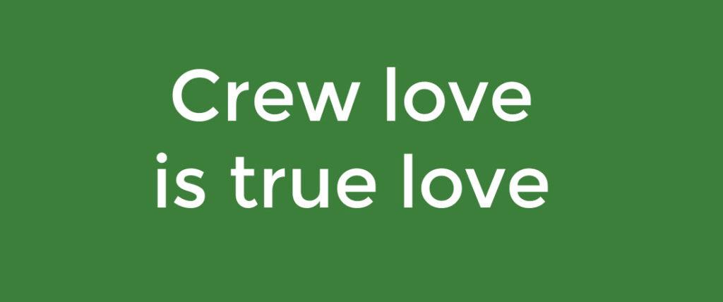 motto of the team of Horizon Lanka Foundation: crew love is true love
